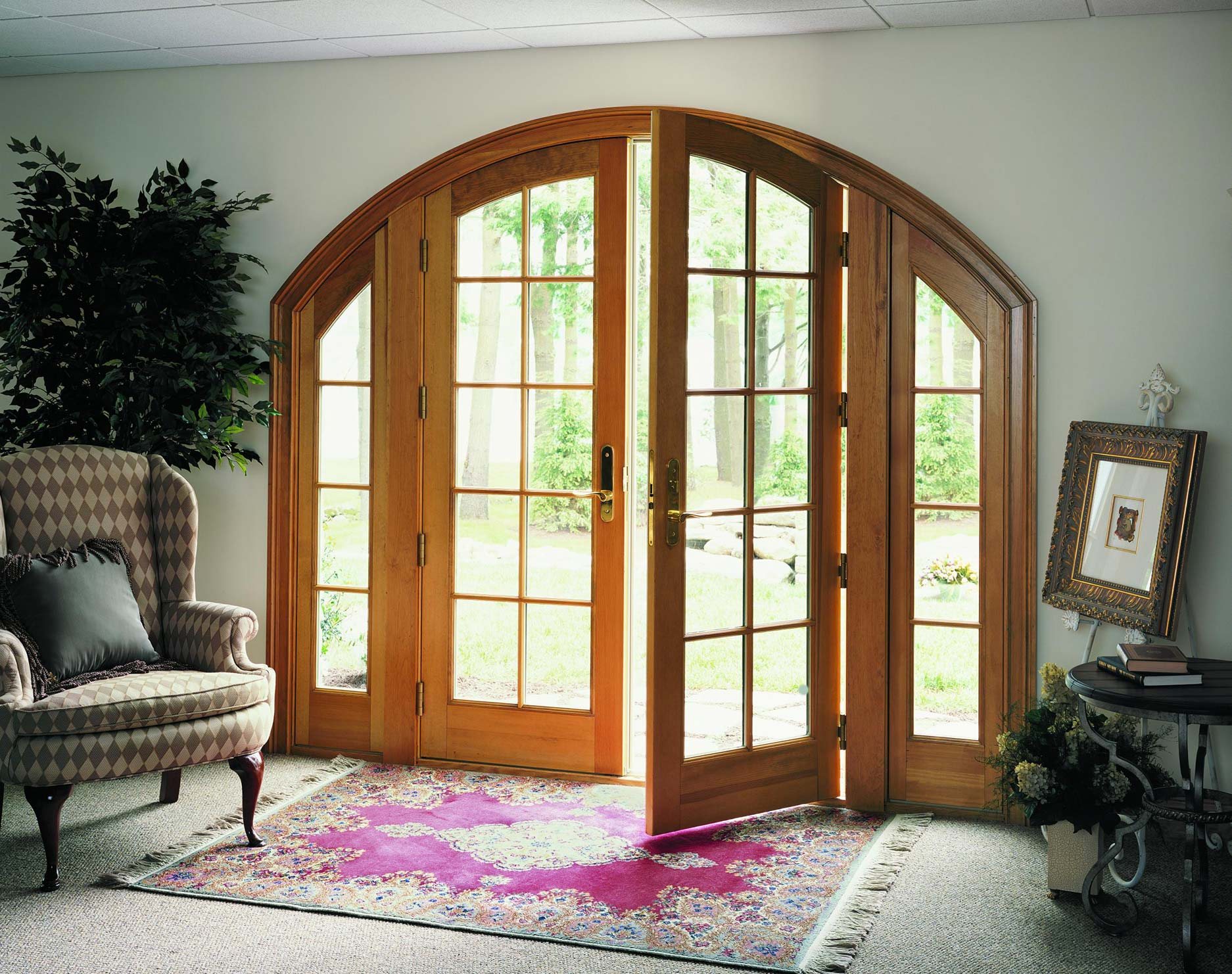 Marvin Archtop French Doors