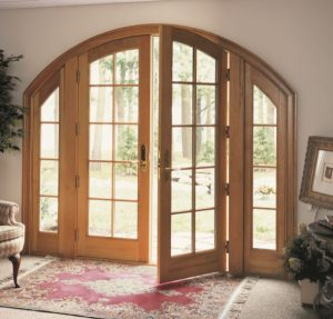 Round Top inswing french doors AWD marvin