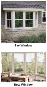 bay window and bow window