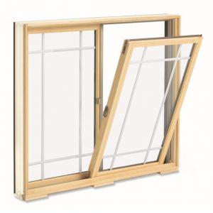 Tilt open glider sliding window for cleaning