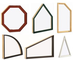 Varieties of special shape windows at AWD
