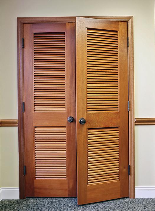 upstate door wood interior louvre double door awd